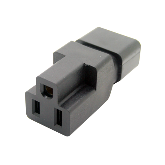 IEC C14 to Nema 5-15R adapter low profile