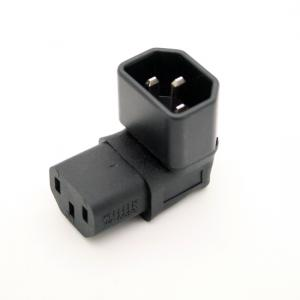 Right Angled IEC Adapter, Down Angled IEC 320 C14 to C13 Adapter