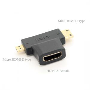 2 in 1 Mini HDMI Micro HDMI adapter