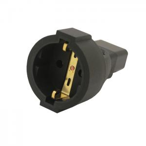 IEC 320 C14 Male to European female adapter