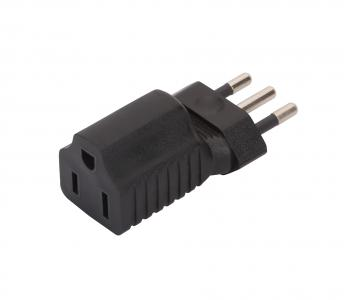 Italy to USA AC adapter, Italy 3Pin Male to USA 3Pole female AC adapter