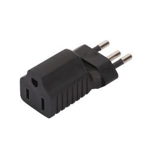 Brazil 3Pin Male to USA 3Pole Female AC Adapter