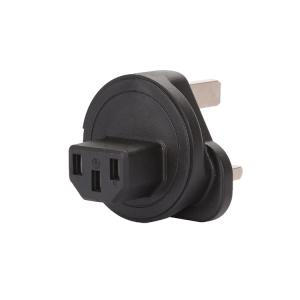 Welleen WA-0183 UK 3 Pole male to IEC 320 C13 Female AC Power adapter