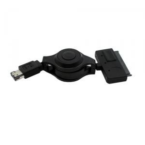 Retractable power eSATA to SATA 22pin, retractable eSATAp cable, 1.0m