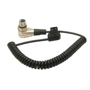 PU Coiled D-Tap male to XLR 4Pin female cable