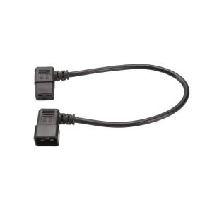 IEC 320 C19 to C20 Power Cord,C19 Right Angle to C20 Left Angle Power Cable L=0.5Meter